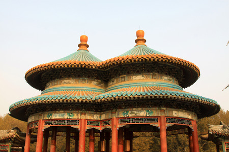 BEIJING - JANUARY 17  The Wan Shou Pavilion building scenery in the temple of heaven park, on January 17, 2014, Beijing, China