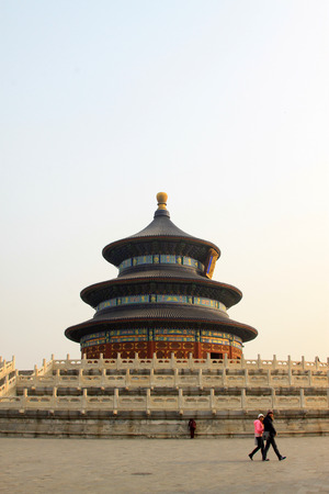 BEIJING - JANUARY 17: The QiNianDian scenery in the temple of heaven park, on January 17, 2014, Beijing, China.