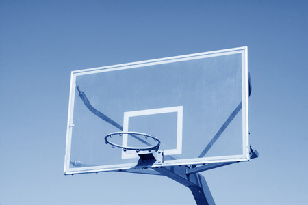 basketball boxes in the blue sky, closeup of photo Stock Photo - 27803805
