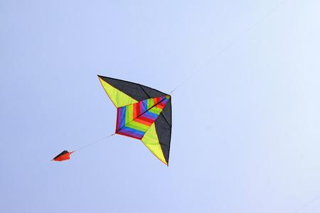 north star: north star modelling kite in the sky Stock Photo