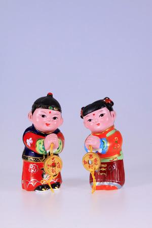 bambini cinesi: antico bambini cinesi scultura di argilla