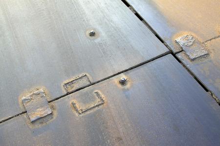 piastra acciaio: patchare su piastra in acciaio