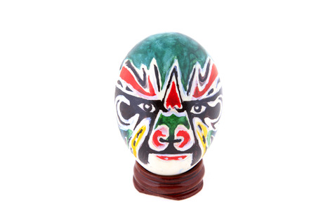 Peking Opera facial makeup, painting on eggshell, Chinese traditional arts and crafts  Stock fotó