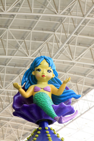 TIANJIN - MAY 17: mermaid in the large indoor playground, Happy Valley, on May 17, 2014, Tianjin, China.
