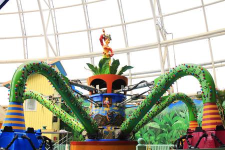 TIANJIN - MAY 17: Large indoor amusement facilities, Happy Valley, on May 17, 2014, Tianjin, China.
