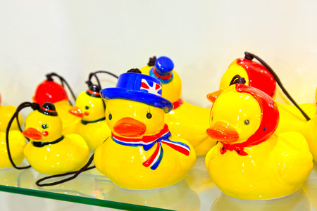 formative: cartoon little yellow duck formative dolls on the store shelves