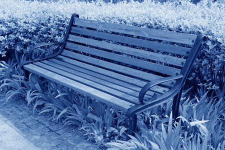 wooden chair in the park