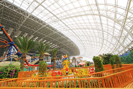 TIANJIN - MAY 17: Big excitant rides in the Happy Valley Amusement Park, on May 17, 2014, Tianjin, China.