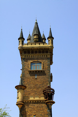 TIANJIN - MAY 17: Castle building landscape, Happy Valley, on May 17, 2014, Tianjin, China.   Editorial