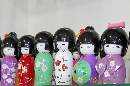 lifelike: ancient ladies formative dolls on the store shelves Stock Photo