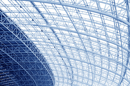 Large steel structure truss, closeup of photo 스톡 콘텐츠