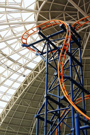 orbital: TIANJIN - MAY 17: Large indoor roller coaster, Happy Valley, on May 17, 2014, Tianjin, China. Editorial