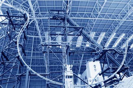 orbital: TIANJIN - MAY 17: Large indoor roller coaster orbital, Happy Valley, on May 17, 2014, Tianjin, China.