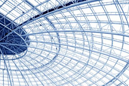 Large steel structure truss, closeup of photo Standard-Bild