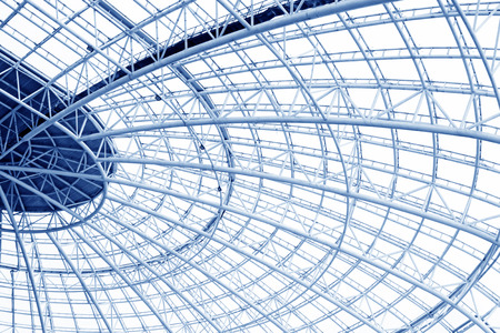 Large steel structure truss, closeup of photo Stock Photo