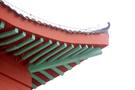 traufe: traditionellen chinesischen Stil Dach, Nahaufnahme Foto