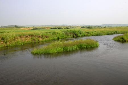 Tuligen River scenery in the grassland photo