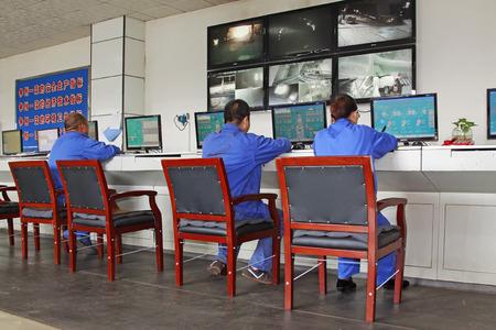 tangshan city: TANGSHAN - JUNE 14: steel mills control room, on June 14, 2014, Tangshan city, Hebei Province, China  Editorial