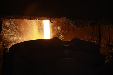 converter: converter in the steel mills, closeup of photo