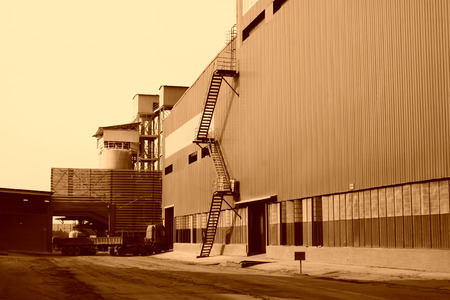 Heavy industry facilities, closeup of photo photo