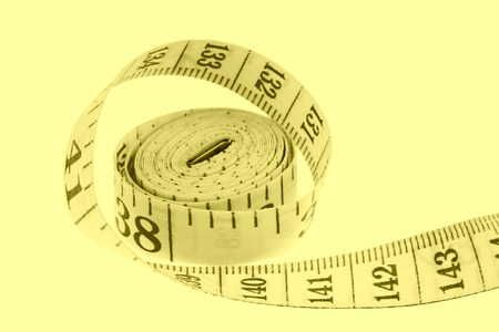 plastic ruler on a white background photo