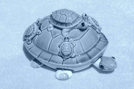articles: Ceramic turtle furnishing articles, closeup of photo