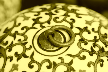 articles: Ceramic furnishing articles texture in a shop Stock Photo