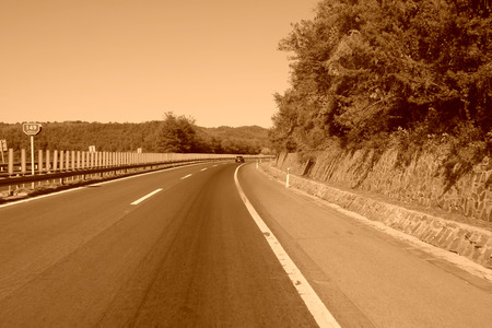 guardrail: loseup of pictures, highway in north china Stock Photo