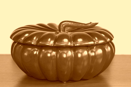 carving pumpkin: traditional Chinese style of annatto, pumpkin carving works Foto de archivo