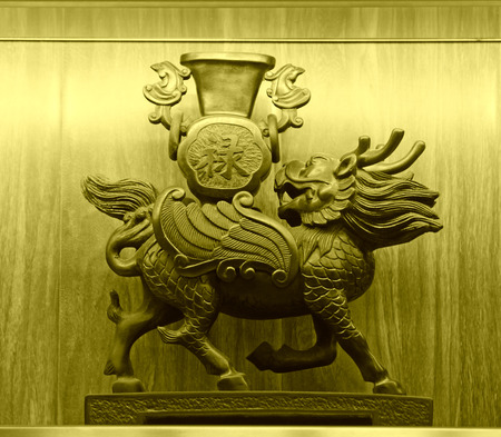 antiquity: traditional Chinese style of bronze art in a shop