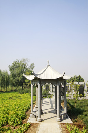hebei:  Attic building landscape in the park on September 18, 2014, Luannan county, Hebei Province, China