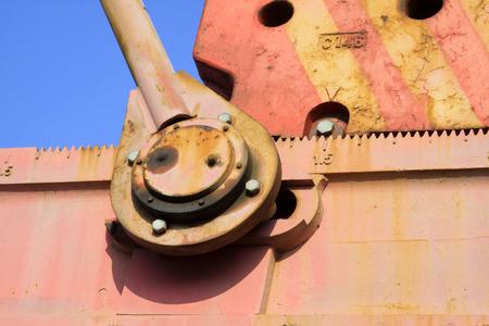crank: Viga unidad de bombeo del cig�e�al y biela, primer plano de la foto