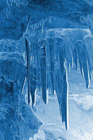 peculiar: stalactites in the water tunnel, peculiar landscape of nature