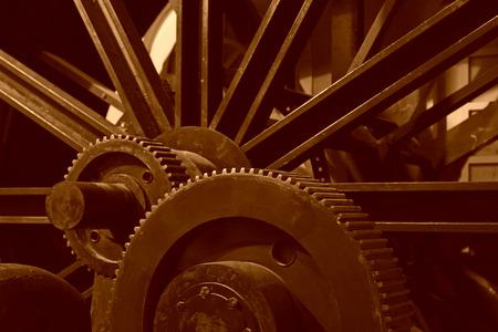 mining machinery: Mining machinery equipment in a factory, closeup photo Stock Photo