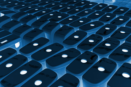 closestool: rows of ceramic closestool products assemblies in a warehouse Stock Photo