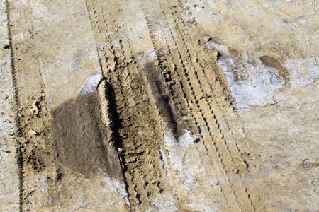 Einbuchtung: Tracing rut auf dem Land, in der W�ste