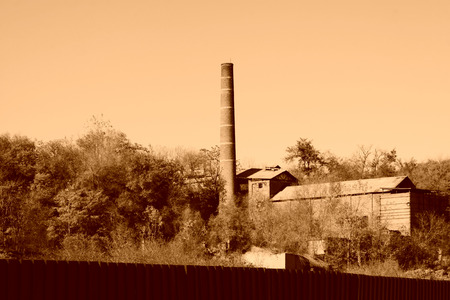 north china: industrial chimney in a factory, north china