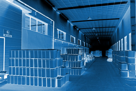 closestool: LUANNAN COUNTY - JANUARY 5: The ceramic closestool products stacked in the warehouse, in the ZhongTong Ceramics Co., Ltd. January 5, 2014, Luannan county, Hebei Province, China. Stock Photo