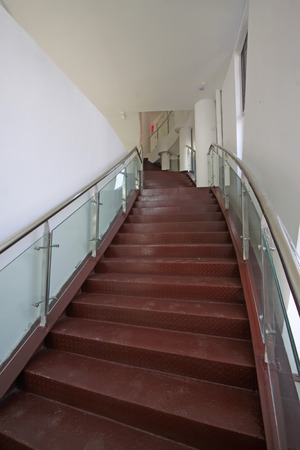 handrails: glass and stainless steel handrails in an art gallery