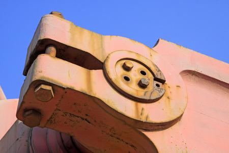 crank: Beam pumping unit crank, closeup of photo