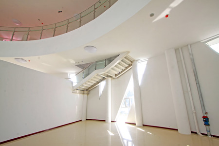 droplight: LUANNAN COUNTY - SEPTEMBER 18: stairs and windows in an art gallery on September 18, 2014, Luannan county, Hebei Province, China