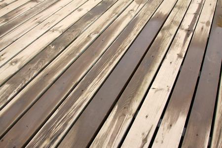 water damage: wet wood floor, closeup of photo