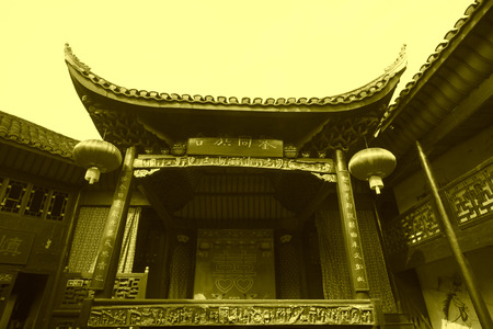 Phoenix County, April 15: Ancient stage on April 15, 2012, Phoenix County, Hunan Province, China