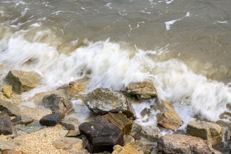 scour: waves and rock