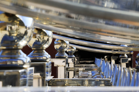 metal parts: Stainless steel metal parts, closeup photo Stock Photo