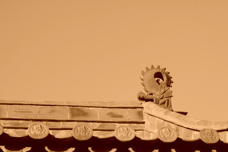 north china: roof of the traditional Chinese architectural style, north china