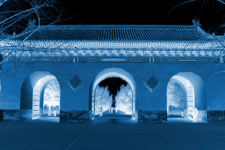 north gate: BEIJING - JANUARY 17: The North gate in the temple of heaven, on January 17, 2014, Beijing, China.