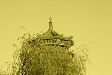 hebei: LUAN COUNTY - NOVEMBER 10: The Purple Metal Tower building landscape, November 10, 2013, Luan county, hebei province, China.