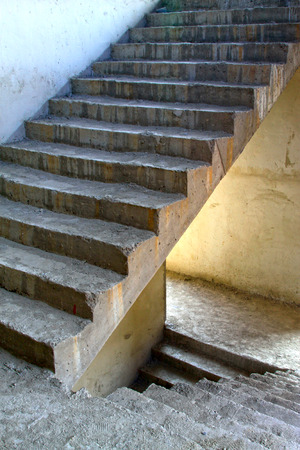 Unfinished stairs, closeup of photo Stock Photo