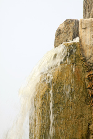 garden features: waterfall in a geological park in China